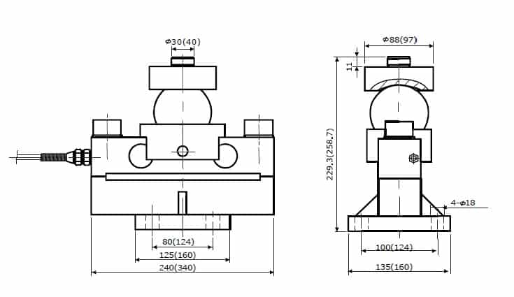 Chiều cao lắp đặt Loadcell SBD